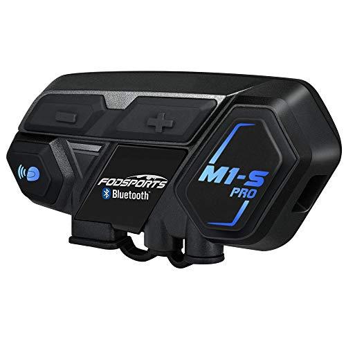 Casco Sistemas de comunicación Fodsports M1-S Intercomunicador de motocicleta Auriculares Bluetooth,Conexión de 6-8 personas y hablar al mismo tiempo, Traje para montar / Esquiarnexión