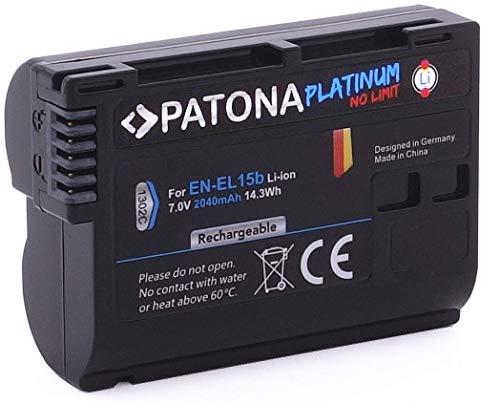 PATONA PLATINUM BATTERY NIKON EN-EL15B D7000 D7100 D600 D610 D800 D800E D810 D850 Z7 V1