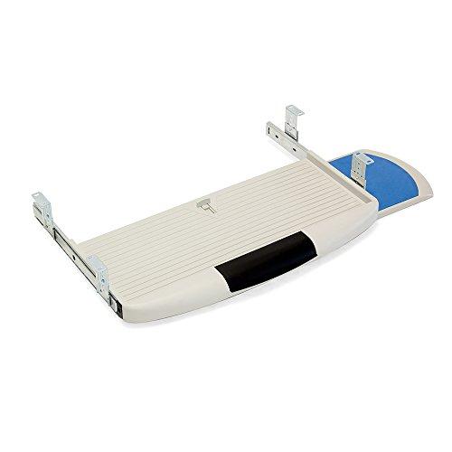 Emuca 3196621 Ausziehbare Tastaturablage mit zusätzlicher Einlage für die Maus