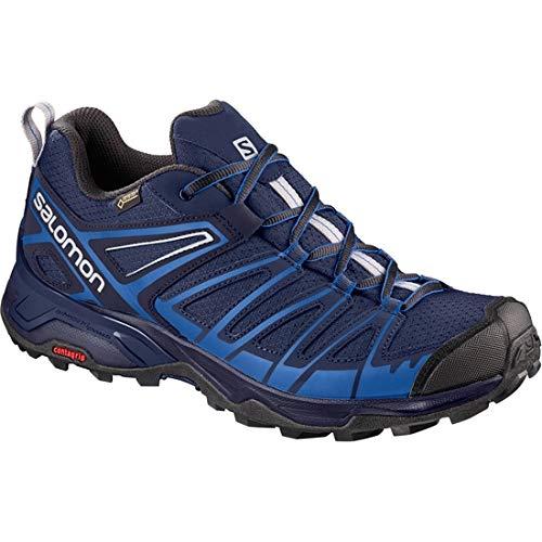 Salomon X Ultra 3 Prime GTX, Zapatillas de Senderismo para Hombre, Azul (Medieval Nautical Blue/Alloy 000), 42 EU