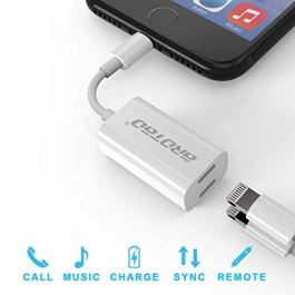 Adattatore & Sdoppiatore Lightning per iPhone 7/7 plus, iPhone 8/8 plus, iPhone X, aROTaO 2 in 1 Doppio Lightning Cuffia Audio & Carica Adattatore per iPhone 7/7 Plus, iPhone 8/8 Plus, iPhone X