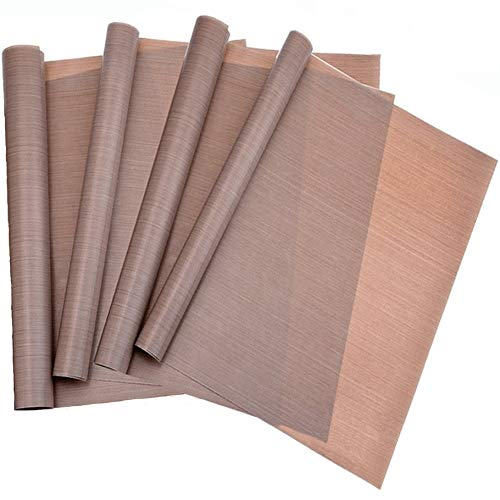 Pritogo Dauerbackfolie, Backpapier, Backfolie, Backunterlage, Silikonmatte (4er Set), 35 x 42 cm (Blechgröße), ohne Fett und Öl, zuschneidbar, spülmaschinenfest, antihaftbeschichtet