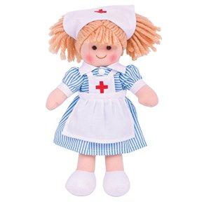 Bigjigs Juguetes Enfermera Nancy 28cm mu?eca