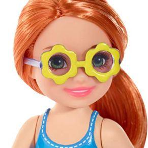 Mattel Barbie Chelsea-Muñeca pelirroja con falda de emojis, juguetes +3 años, multicolor FXG81 , color/modelo surtido