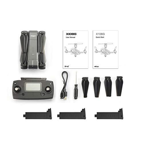 CHOULI Mjx X103W Rc Drone 5G WiFi FPV GPS Pieghevole Aereo a Distanza con Fotocamera 2K Nero