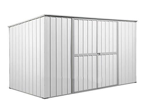 Notek Box in Acciaio Zincato Casetta da Giardino in Lamiera 1.75 x 3.07 m x h1.82 m - 95 kg - 5,4 Metri Quadri