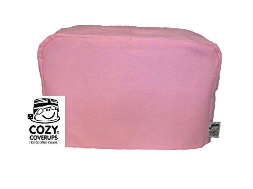 Cozycoverup - Copertura antipolvere per tostapane, 2 fessure lunghe 20 x 20 x 40 cm, colore: rosa