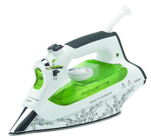 Rowenta DW6020 Eco Intelligent Ferro da Stiro a Vapore, Potenza 2400 W, Verde/Bianco