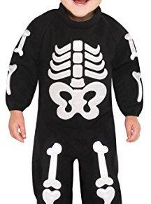 Nueva Amscan Bitty bebé Huesos del esqueleto de Halloween del mono Monos Chicos vestir vestuario