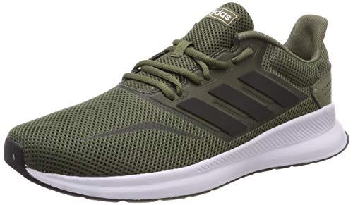 adidas Herren Runfalcon Laufschuhe, Grün (Raw Khaki/Core Black/Footwear White 0), 45 1/3 EU