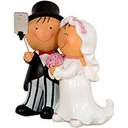 Mopec Pit&Pita Figura para Pastel de boda, Resina, Blanco, 13.5 x 17 x 19.2 cm