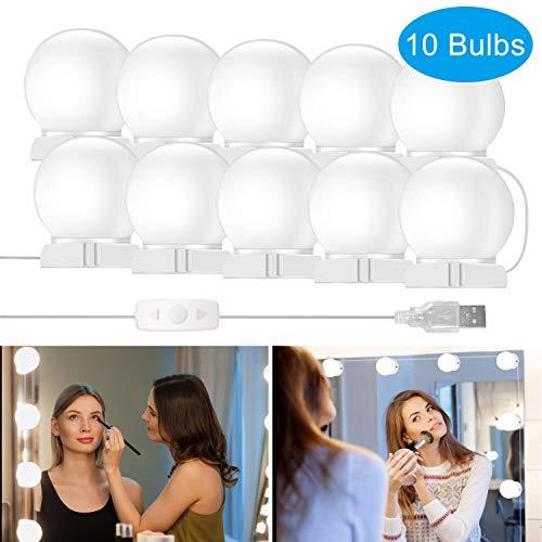 Luci Da Specchio, innislink Luci per Specchio Stile Hollywood 10 lampadine LED specchio trucco...