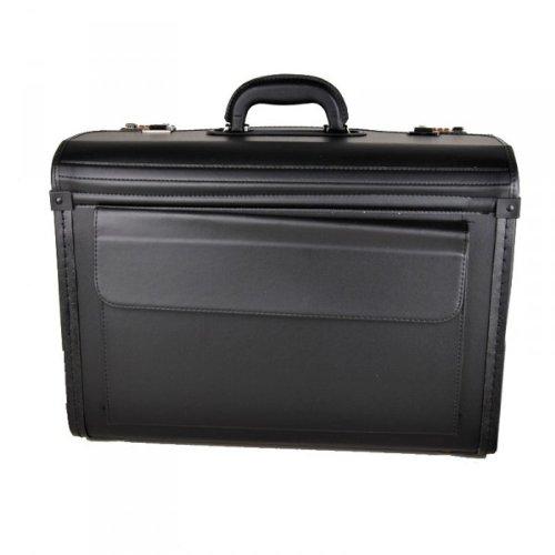 d & n Lederwaren Pilotenkoffer, Dokumentenkoffer schwarz