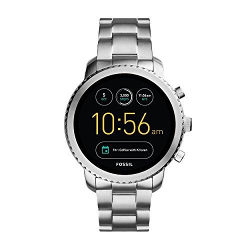 FOSSIL Montre connectée Explorist | Smartwatch homme étanche - Compatibilité iOS & Android - Coffret montre avec son chargeur
