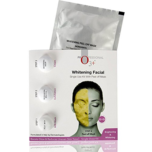 O3+ Whitening Facial Kit Includes Milk Wash, Microderma Brasion, Whitening Cream and Peel Off Mask 8