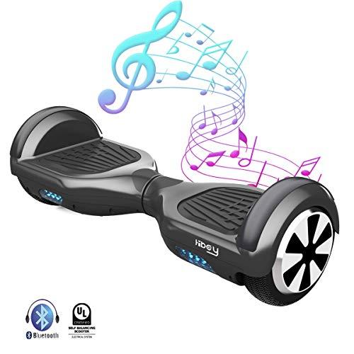 Hiboy TW01-UL-B, Hoverboard W1 con Certificazione Ul2272 E Bluetooth Unisex – Adulto, Nero, Taglia...