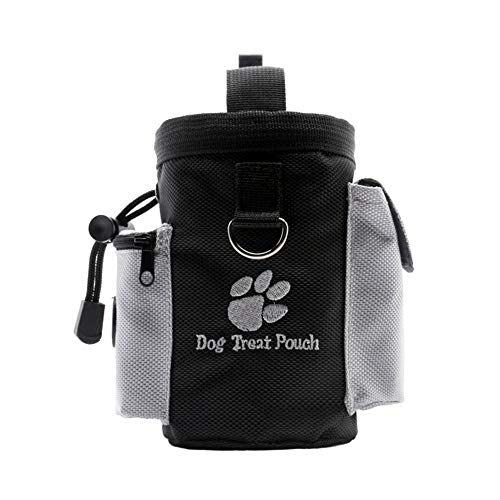 AUOKER Dog Treat Pouch, Portable Dog Training Bag Snack Pouch, Durable Pet Dog Treat Container