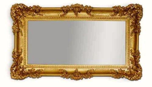 Lnxp WANDSPIEGEL BAROCKSPIEGEL Spiegel in Gold 96x57 Antik Barock Rokoko Shabby Chic Renaissance JUGENDSTIL Retro Design mit ORNAMENTVERZIEHRUNGEN Luxuriös PRUNKVOLL