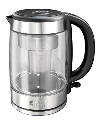 Russell Hobbs Purity 1.5L water filter kettle (chrome) (6 months of Brita Maxtra) (6 cartridges) (3000w)