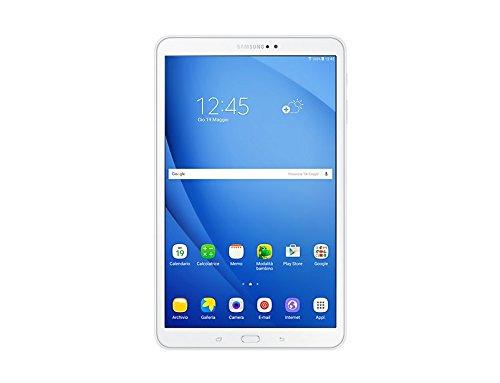 Samsung Galaxy Tab A Tablet da 10.1, 16 GB Espandibili, WiFi, Bianco [Versione Italiana]