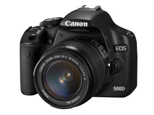 Canon EOS 500D fotocamera digitale (incluso kit obbiettivi IS EF 18-55 mm) [Importato da Regno...