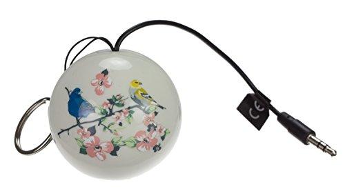Gifting Mini Buddy Bluetooth Lautsprecher Universal Tragbar Klein Leicht Kompakt Kompatibel mit iPod, iPhone, iPad, Smartphones, Tablets und MP3-Geräten - Vintage Vogel