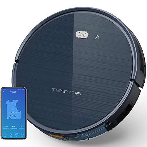 Aspirapolvere Robot TESVOR X500 a 3 spazzole con 1500 di PA, Compatibile con Alexa e Google Home, Connessione WiFi 2.4GHz, 4 modalità di pulizia, Autonomia 100 minuti con Copertura fino 150m²
