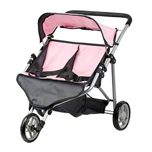 Doll Twin Buggy - Carro per bambole - Trider - Manubrio Altezza: 45 - 72 cm - Pieghevole
