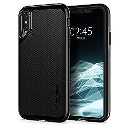 Kaufen Spigen Neo Hybrid, iPhone XS Hülle, iPhone X Hülle, Zweiteilige Handyhülle Modische Muster Silikon Schale und PC Rahmen Schutzhülle Case für iPhone XS (5.8 Zoll) / iPhone X (Jet Black) 063CS24919