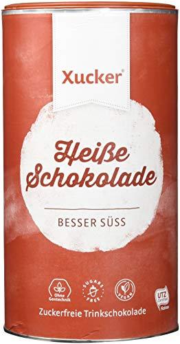 Xucker Heiße Schokolade (UTZ Xylit Trinkschokolade) - Pulver in Dose (29.5{c1c4277c2c0138832127efc9ba30fdc9be9b644707712b141951fa0a6ce1d103} Kakao) - vegan, ohne Gentechnik, zuckerfrei, 800 g