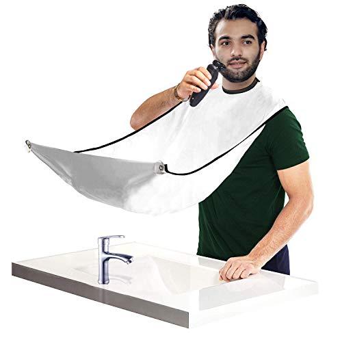 sunwaly Bart Schürze Sammel Tuch für Haare Bart Lätzchen für Geschenk der Männer Bartlatz für Rasur