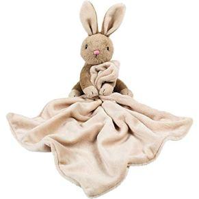 Suki Gifts 14418 14418 Bobtail - Manta de seguridad con sonajero, diseño de conejo, color beige