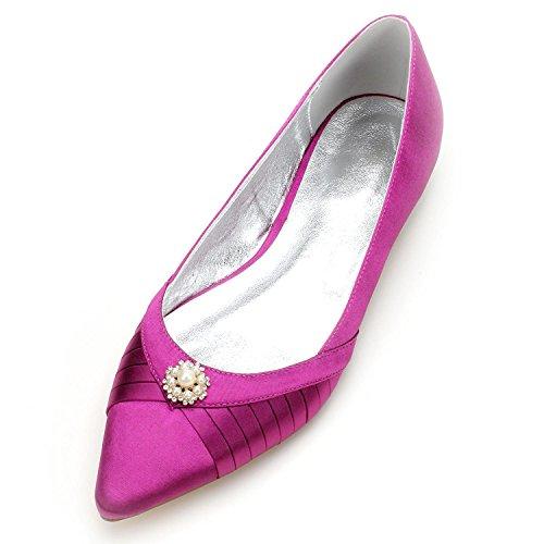best service 9b258 e1bc5 Elegant high shoes Scarpe da Sposa da Donna 5047-12 Abito da Sera di Alta  Qualità da Cerimonia da Sposa, Purple, 37 - Prezzo lato