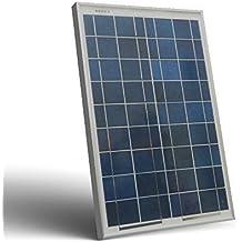 Placa Solar Fotovoltaico 20W 12V Policristalino Implant Camper Barco Baita