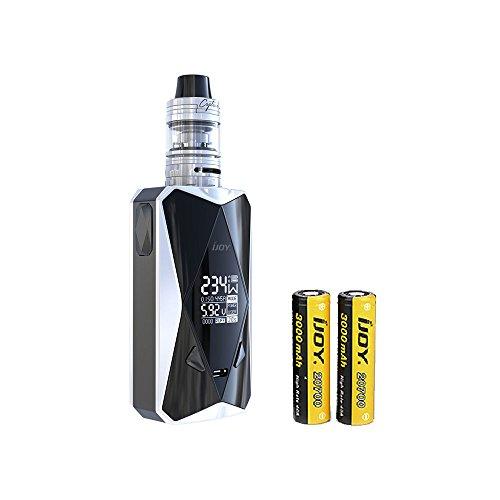 IIJOY Diamond PD270 234W TC Kit 6000mAh 20700 Battery with 2ml Captain X3S Subohm Tank & 234W Diomond MOD, No Nicotine, No E Liquid (Matte White)