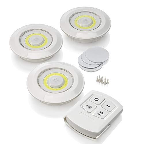 Auraglow LED Luci Sottopensili Wireless Senza Fili con Telecomando con Timer e Controllo della Luminosità