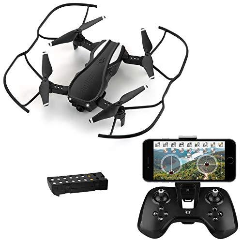 HELIFAR H1 Drone con Telecamera, Mini Drone con WiFi FPV HD 720P App, Drone Pieghevole con...