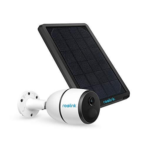 Reolink Go 3G/4G LTE Telecamera di Sicurezza per Batteria senza Fili da Esterno, Alimentata a Energia Solare, Sensore di Movimento PIR, 1080p HD Visione Notturna Audio a 2 Vie, con Pannello Solare