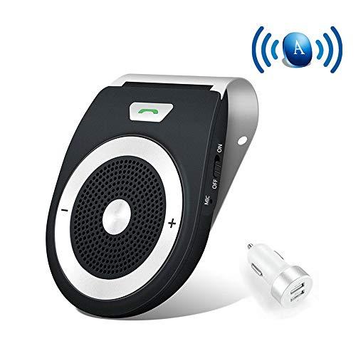 Kit Vivavoce Bluetooth Accensione Automatica Tramite Sensore di Prossimità V4.1 da Auto con Controllo Vocale, connettere due dispositivi di smartphone contemporaneamente