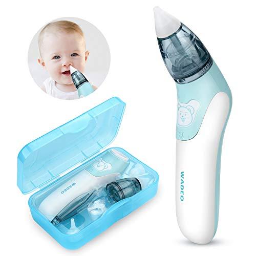 WADEO Aspiratore Nasale Neonato, Pulitore Naso Elettrico Ear Wax Cleaner Kit Neonato con 3 Ugelli...