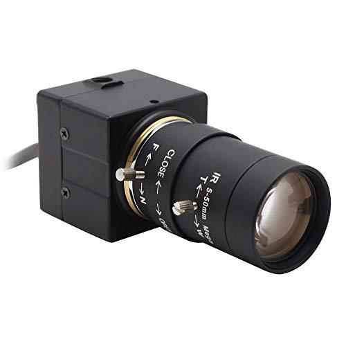 Svpro Telecamera CCTV 5-50mm Varifocal Lens USB Webcam 1 / 3.2 '' IMX179 8MP MJPEG CS Mount USB Web Camera (SV-USB8MP02G-SFV)