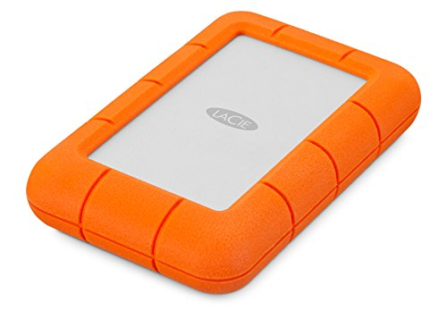 LaCie LAC9000633 Rugged MINI Hard Disk Esterno, 4 TB (2 x 2), Arancione/Grigio