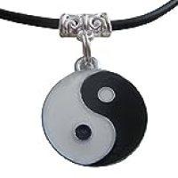 Inception Pro Infinite Collar con símbolo Tao de Yin y Yang con cordón Negro Lany Idea de Regalo PU