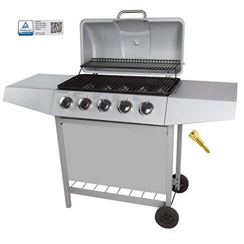 FAVE Barbecue a Gas 5 bruciatore può Essere utilizzato per Barbecue Grill Pietra lavica accensione...