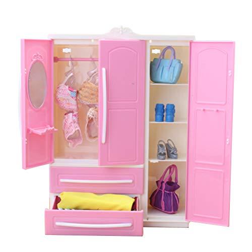 Egosy Mini Armadio per Bambola Armadio per Bambola Accessori per Bambola Armadio per Bambole Barbie
