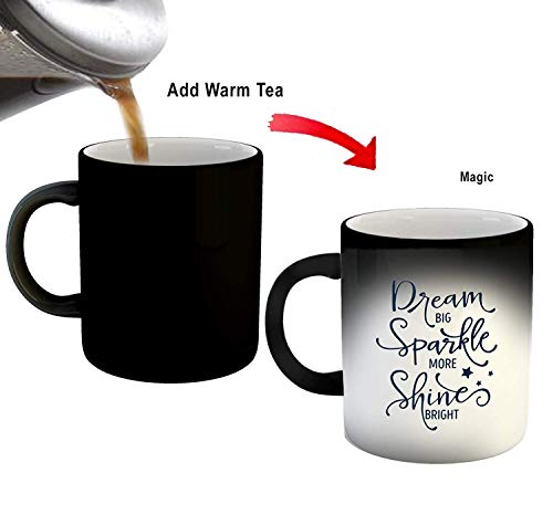 SCPmarts Create Your DesireTM Dream Sparkle Shine Printed Magic Coffee Mug- Gift for Him/Her- Black by SCPmartsTM