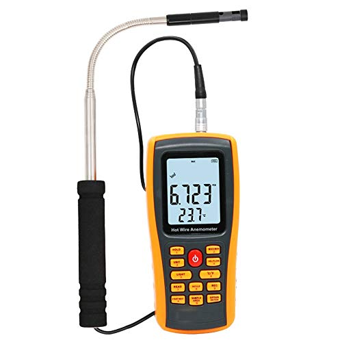 BAOLH Digital anemometro, Macchina da Presa LCD Air Flow Misura di velocità Termometro Dispositivo...