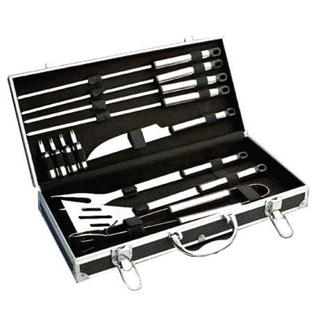 IA Cart Barbeque Grill Tools with Carrying Case (Random Colour)