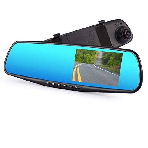 SPATA Full HD 1080P 4.3″ TFT Front View Dash Camera mirro for Car/Recorder