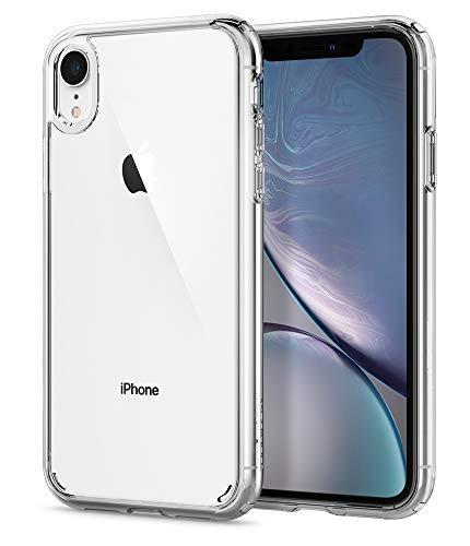 """spigen Funda iPhone XR, [Ultra Hybrid] Tecnología de cojín de Aire y protección híbrida de la caída para iPhone XR 6.1"""" (2018) - [Transparente] 064CS24873"""